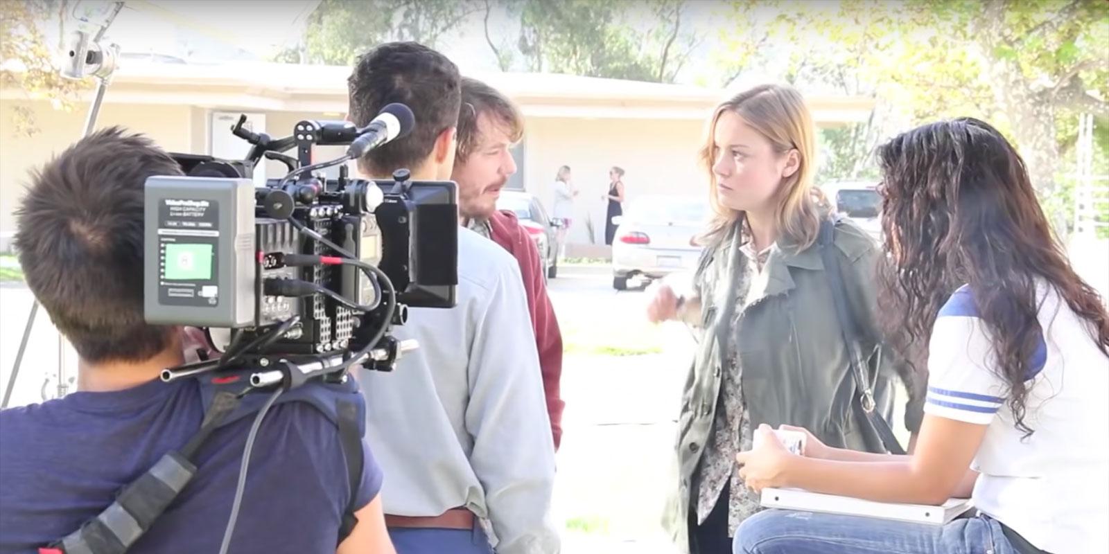 Бри Ларсон (Brie Larson) на съёмках