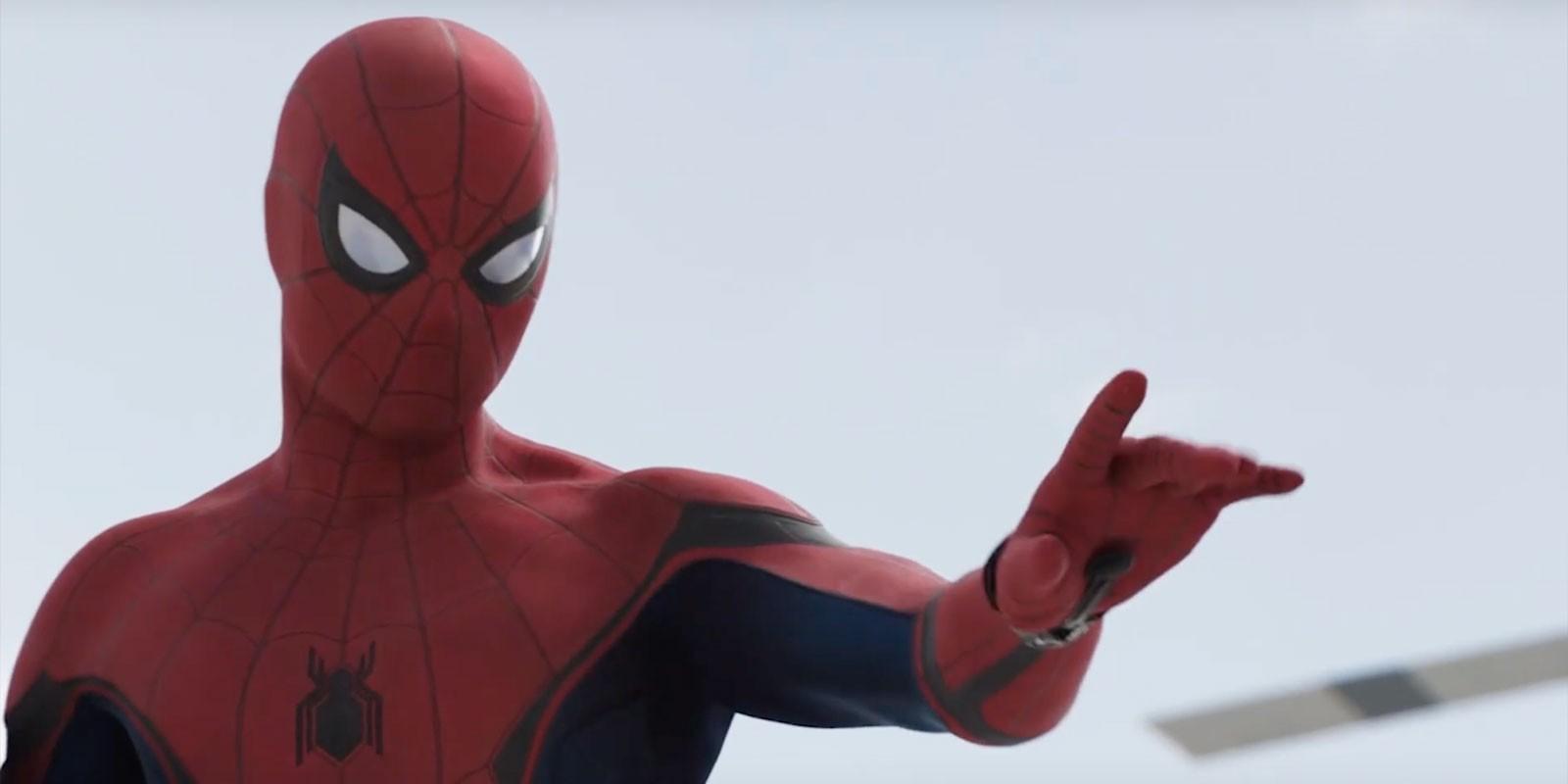 Питер Паркер в костюме красных и черных тонах